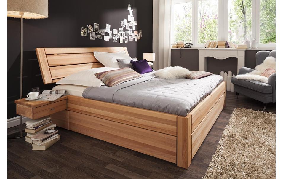 nachttisch holz schwebend natura 1660 nachttische schlafzimmer m bel wikinger. Black Bedroom Furniture Sets. Home Design Ideas
