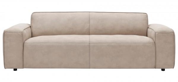 Sofa beige hell 3-Sitzer Sitztiefenverstellung motorische Verstellung