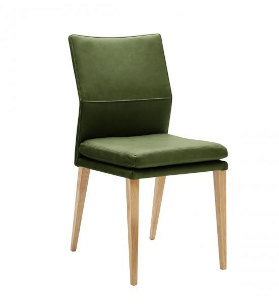 Stuhl 4-Beinig Eiche grün