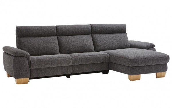 Ecksofa Anthrazit wahlweise mit Relaxfunktion Natura Bedford