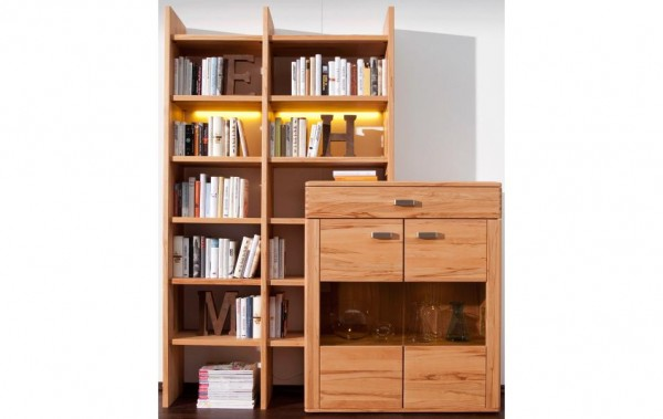 anbauwand kernbuche natura cartago wohnw nde wohnzimmer m bel wikinger. Black Bedroom Furniture Sets. Home Design Ideas