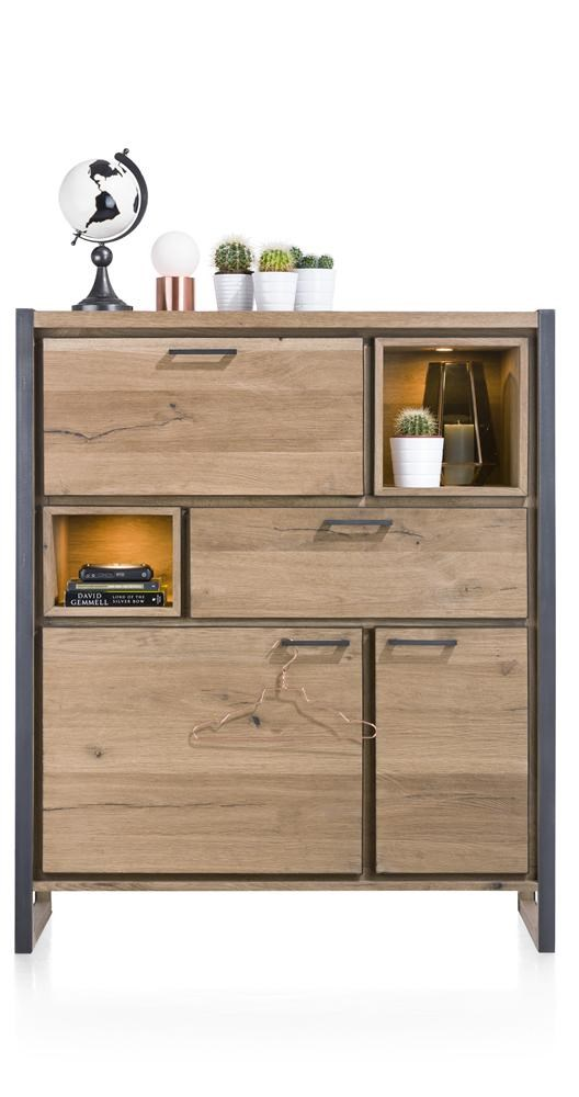 highboard metall holz design metalo henders hazel sideboards wohnzimmer m bel wikinger. Black Bedroom Furniture Sets. Home Design Ideas