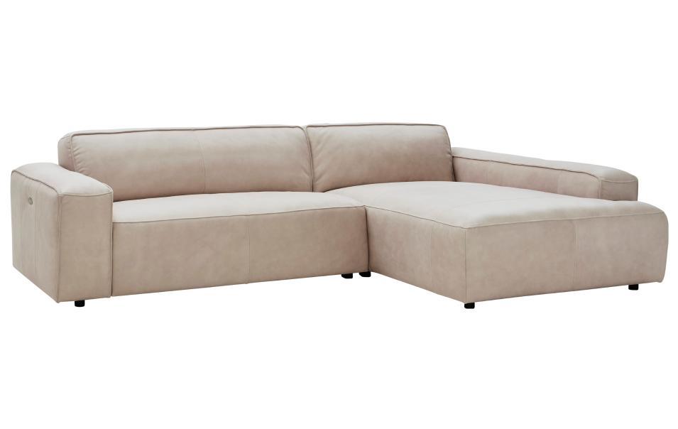 ecksofa leder beige natura denver sofas couchen wohnzimmer m bel wikinger. Black Bedroom Furniture Sets. Home Design Ideas