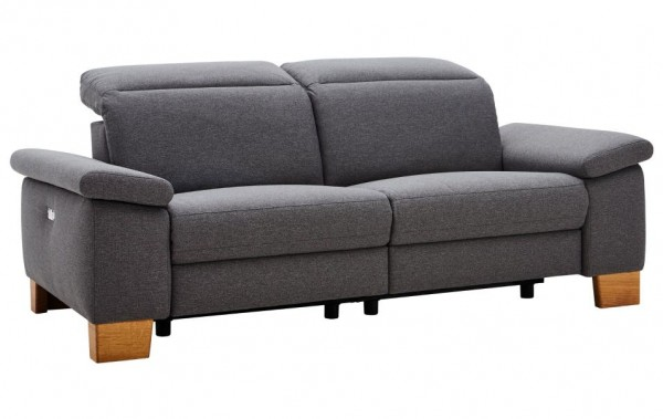 sofa 3 sitzer mit relaxfunktion vollmotorisch grau stoff natura michigan sofas couchen. Black Bedroom Furniture Sets. Home Design Ideas