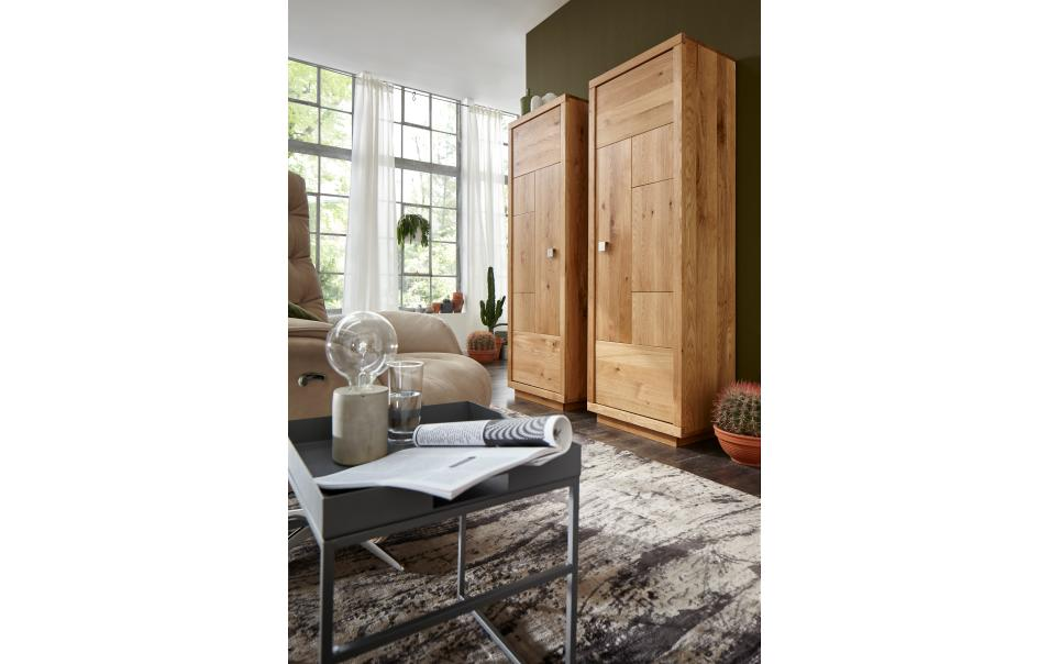 vitrine schmal natura wisconsin schr nke vitrinen wohnzimmer m bel wikinger. Black Bedroom Furniture Sets. Home Design Ideas