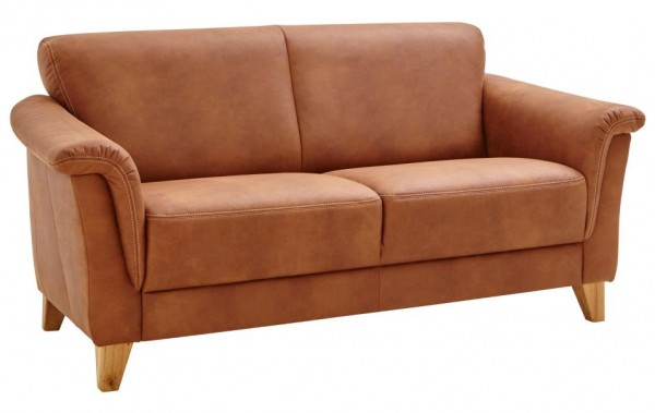 Sofa 2,5 sitzer braun stoff weich holzfüsse massiv Polsterung