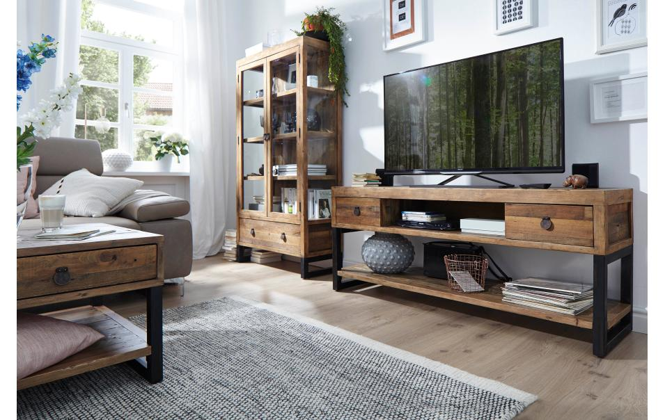 tv lowboard klein natura woodenforge tv mediam bel wohnzimmer m bel wikinger. Black Bedroom Furniture Sets. Home Design Ideas