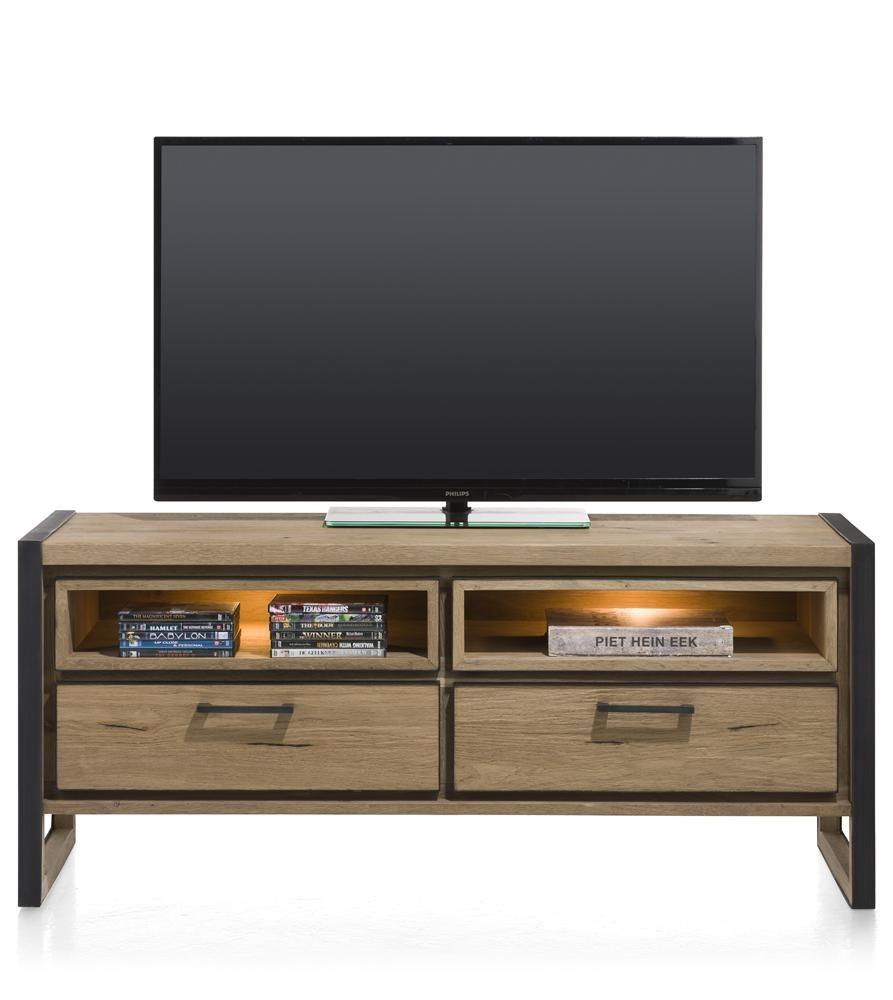 lowboard tv media holz metall small design metalo henders hazel tv mediam bel. Black Bedroom Furniture Sets. Home Design Ideas