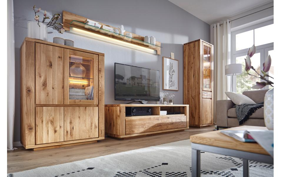 highboard aus asteiche massiv natura bakersfield schr nke vitrinen wohnzimmer m bel wikinger. Black Bedroom Furniture Sets. Home Design Ideas
