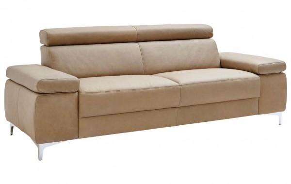 Sofa 3-Sitzer mit Kopfteilverstellung natur