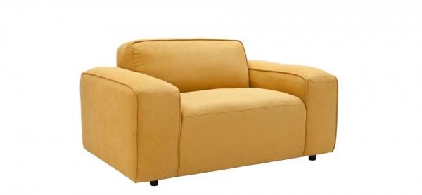 sessel 1,5-Sitzer Sofa gelb stoff