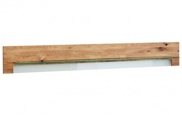 Wandboard Asteiche und Glas Natura Bakersfield | Regale | Wohnzimmer ...