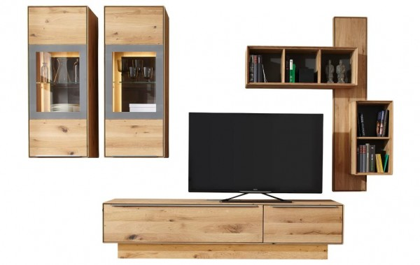 wohnwand natura san francisco in asteiche wohnw nde wohnzimmer m bel wikinger. Black Bedroom Furniture Sets. Home Design Ideas
