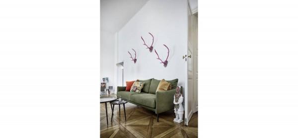 Sofa 3-sitzig in Veloursstoff grün von Raum.Freunde