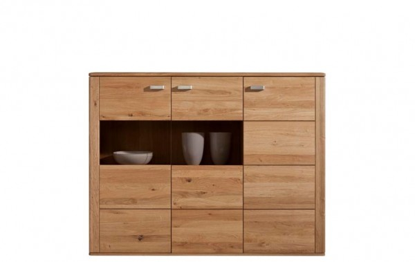 Highboard XL Wildeiche Massivholz