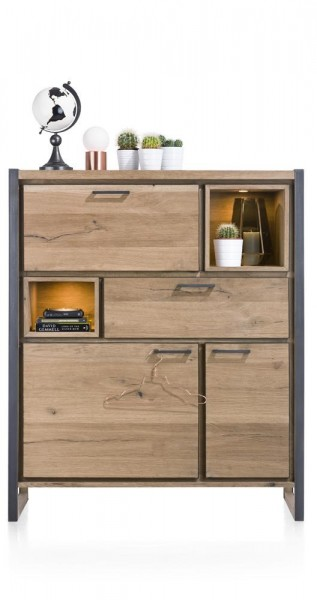 Highboard Metall Holz Design Metalo Henders Hazel Sideboards