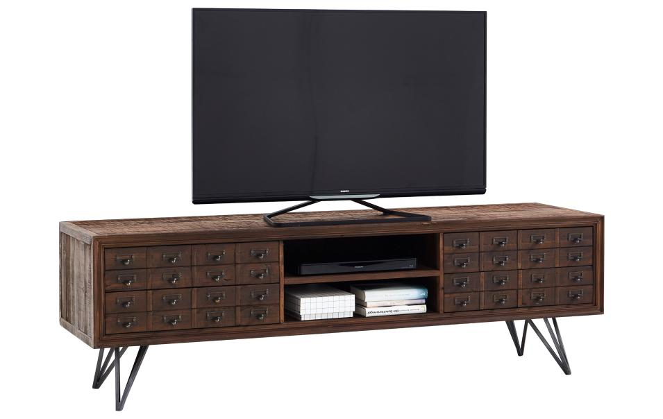 tv lowboard aus recyclingholz natura rockfort tv mediam bel wohnzimmer m bel wikinger. Black Bedroom Furniture Sets. Home Design Ideas