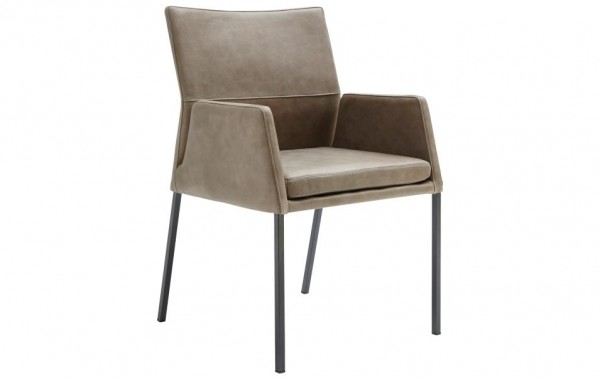 Stuhl 4-Beinig mit Armlehnen Olive XL